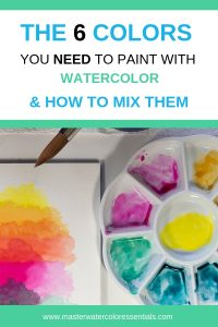 How to mix watercolor
