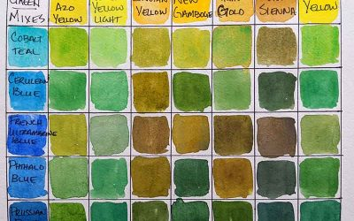 How to Mix Green with Watercolor