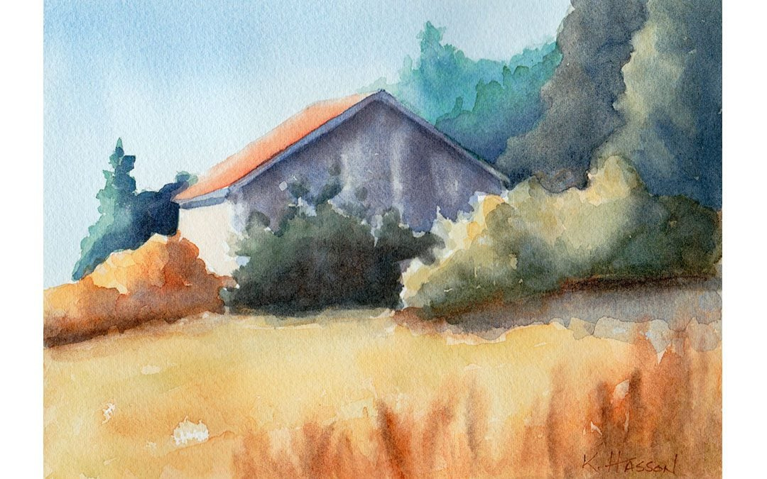 How to Paint a Barn with Watercolor